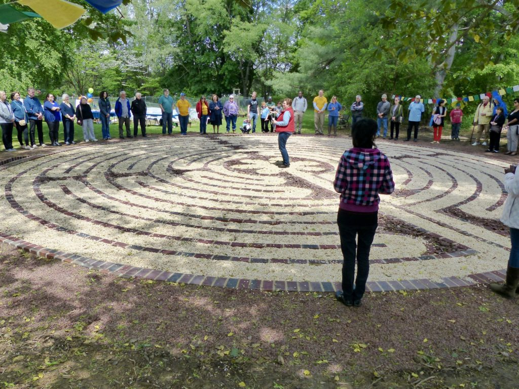 Photo of our labyrinth